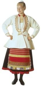 Kivennavan naisen äyrämöispuku (kuvan lähde: www.kansallispuvut.fi)