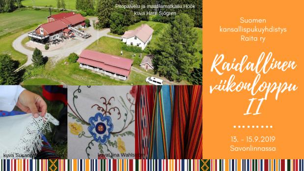 Raidallinen viikonloppu II on 13.-15.9.2019 Savonlinnassa!